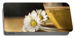 Portable Battery Charger featuring the photograph Chamomile by Traven Milovich