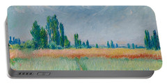 Champ De Ble Portable Battery Charger by Claude Monet