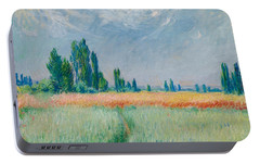 Portable Battery Charger featuring the painting Champ De Ble by Claude Monet