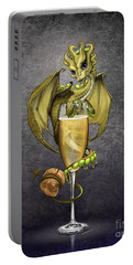 Portable Battery Charger featuring the digital art Champagne Dragon by Stanley Morrison