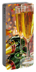 Champagne Wishes Portable Battery Charger