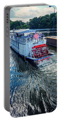Portable Battery Charger featuring the photograph Champlain Canal Patriot by Kendall McKernon