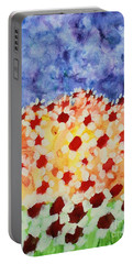 Champs De Marguerites - 01 Portable Battery Charger by Variance Collections