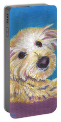 Portable Battery Charger featuring the painting Chance by Jamie Frier