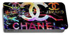 Chanel Black Portable Battery Charger