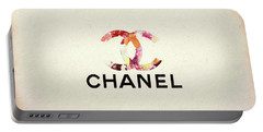 Chanel Floral Texture  Portable Battery Charger