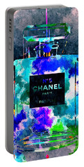 Chanel No 5 Dark Grunge Portable Battery Charger by Daniel Janda