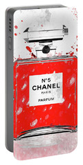 Chanel No 5 Red Portable Battery Charger