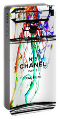 Chanel No. 5 Watercolor Portable Battery Charger by Daniel Janda