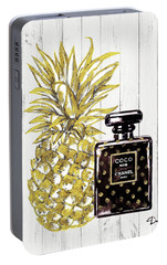 Chanel  Noir Perfume With Pineapple Portable Battery Charger by Del Art
