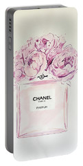 Chanel Peonies Portable Battery Charger