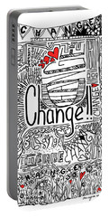 Change - Motivational Drawing Portable Battery Charger