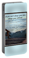 Change Your Attitude Portable Battery Charger by Irma BACKELANT GALLERIES