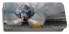 Portable Battery Charger featuring the digital art Chaos by Alex Grichenko