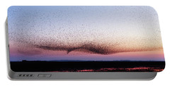 Chaos In Motion - Bird Of Many Birds Portable Battery Charger by Roeselien Raimond