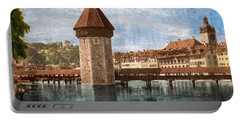 Chapel Bridge In Lucerne Portable Battery Charger