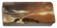 Portable Battery Charger featuring the photograph Chapel In The Storm by Rick Furmanek