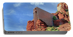 Portable Battery Charger featuring the digital art Chapel Of The Holy Cross by Kai Saarto