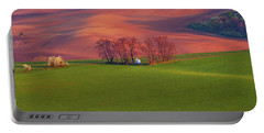 Portable Battery Charger featuring the photograph Chapel St Barbara. Moravian Tuscany by Jenny Rainbow