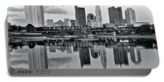 Charcoal Columbus Mirror Image Portable Battery Charger by Frozen in Time Fine Art Photography