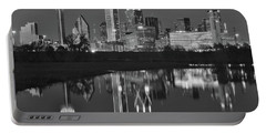 Charcoal Night In The Lone Star State Portable Battery Charger by Frozen in Time Fine Art Photography