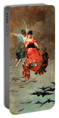 Portable Battery Charger featuring the painting Chariot Of Swallows by Alexander Louis Leloir