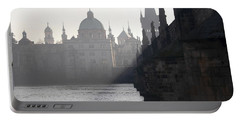 Charles Bridge At Early Morning Portable Battery Charger