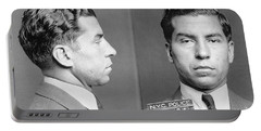 Portable Battery Charger featuring the photograph Charles Lucky Luciano by Granger
