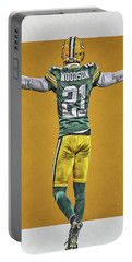 Charles Woodson Green Bay Packers Art 2 Portable Battery Charger