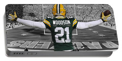Charles Woodson Green Bay Packers Stadium Art 2 Portable Battery Charger