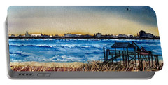 Portable Battery Charger featuring the painting Charleston At Sunset by Lil Taylor