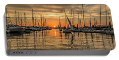Charleston Harbor Marina Sunset Portable Battery Charger
