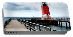 Charlevoix Lighthouse Portable Battery Charger by Pat Cook