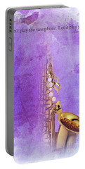 Charlie Parker Saxophone Purple Vintage Poster And Quote, Gift For Musicians Portable Battery Charger