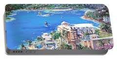 Charlotte Amalie Marriott Frenchmans Beach Resort St. Thomas Us Virgin Island Aerial Portable Battery Charger by Bernadette Krupa