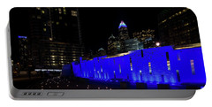 Charlotte, North Carolina From Romare Bearden Park Portable Battery Charger by Serge Skiba