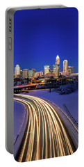 Charlotte Winter Skyline Portable Battery Charger