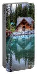 Charming Lodge Emerald Lake Yoho National Park British Columbia Canada Portable Battery Charger