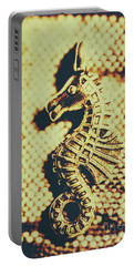 Charming Vintage Seahorse Portable Battery Charger