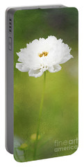 Charming White Cosmos Portable Battery Charger