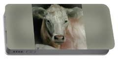 Charolais Cow Painting Portable Battery Charger