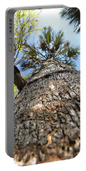 Charred Palm Tree 000 Portable Battery Charger