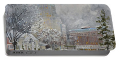 Chase Park Plaza In Winter, St.louis Portable Battery Charger