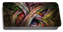 Portable Battery Charger featuring the digital art Chasing Colors - Fractal Art by NirvanaBlues