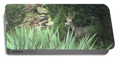 Portable Battery Charger featuring the photograph Chasing Velvet Antlers 1 by Natalie Ortiz