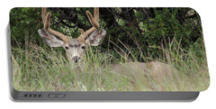 Portable Battery Charger featuring the photograph Chasing Velvet Antlers 2 by Natalie Ortiz
