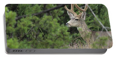 Portable Battery Charger featuring the photograph Chasing Velvet Antlers 4 by Natalie Ortiz
