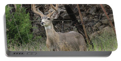 Portable Battery Charger featuring the photograph Chasing Velvet Antlers 6 by Natalie Ortiz