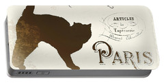 Chat Noir Paris Portable Battery Charger by Mindy Sommers