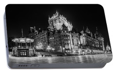 Portable Battery Charger featuring the photograph Chateau Frontenac by Chris Bordeleau